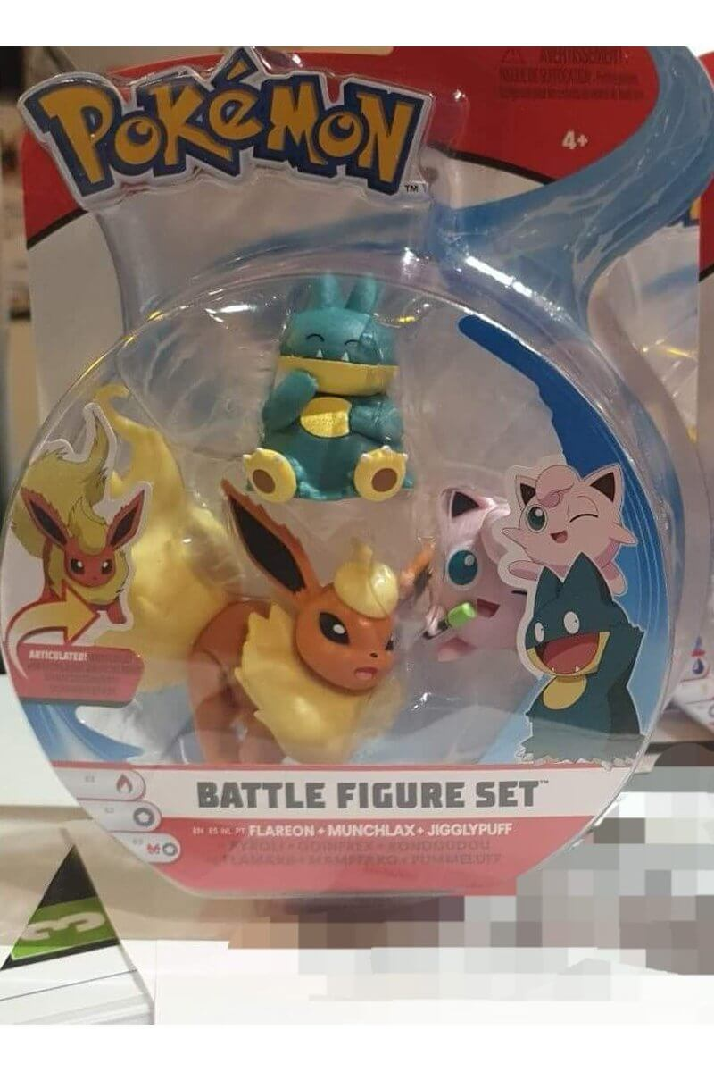 Flareon Tyranitar & Pikachu Figurer